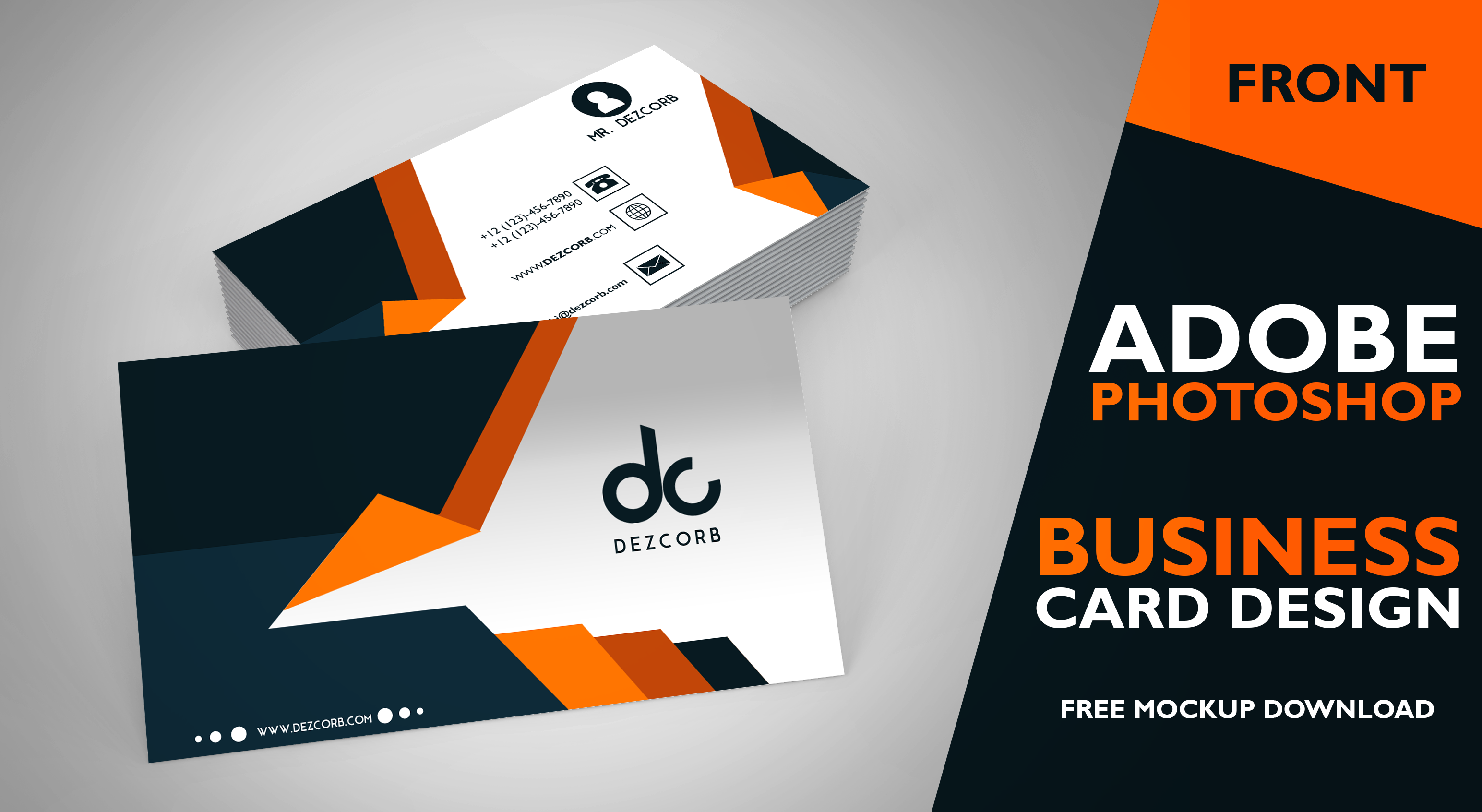 business card design photoshop tutorial dezcorb
