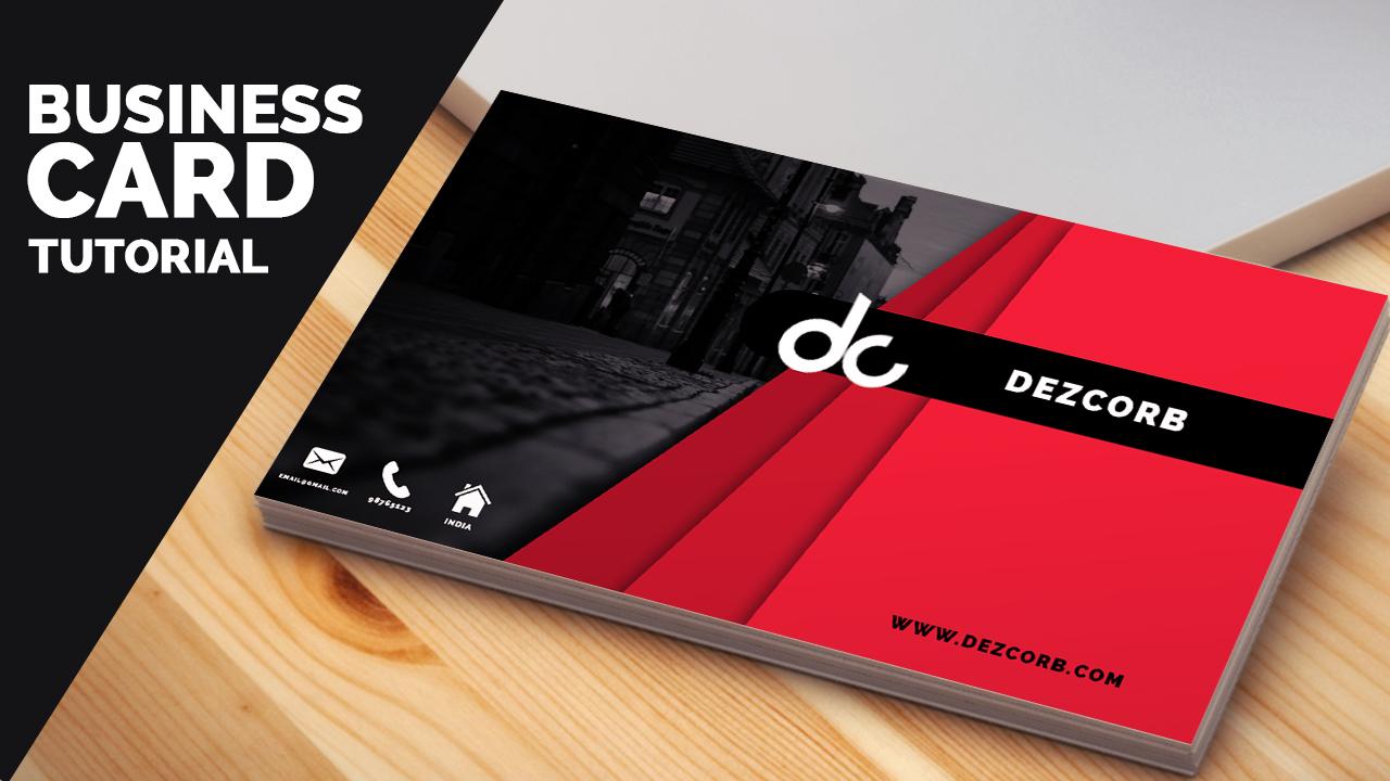 Business Card Archives Dezcorb - Photoshop cs6 business card template